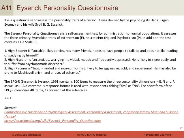 Personality theories and assessment for ignou students ebook california state university lecture 47 fandeluxe Image collections
