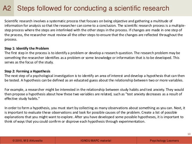 psychology and scientific method essay