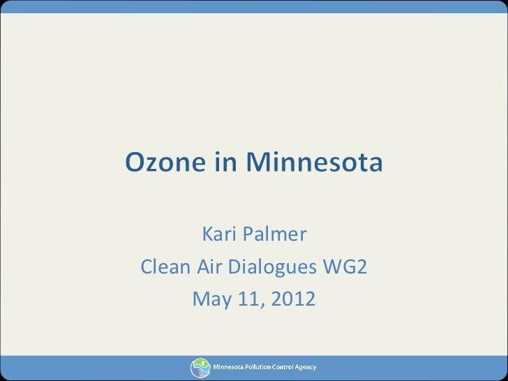Kari Palmer Clean Air Dialogues WG2      May 11, 2012