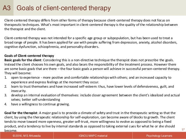 Why the therapeutic relationship matters