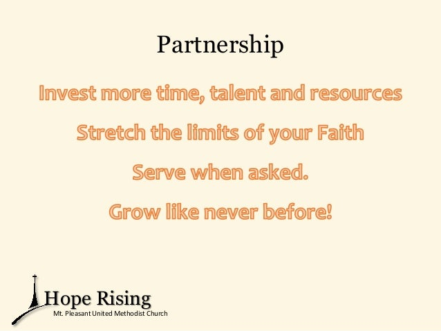 Partnership Hope Rising Mt. Pleasant United Methodist Church