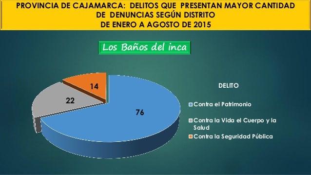 Los Baños del inca 76 22 14 DELITO Contra el Patrimonio Contra la Vida el Cuerpo y la Salud Contra la Seguridad Pública PR...