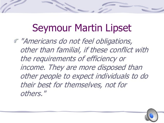 the greatness of america in american exceptionalism by seymour martin lipset Bibliographie de seymour martin lipset  lipset s m, american exceptionalism :  is america different  a new look at american exceptionalism,.