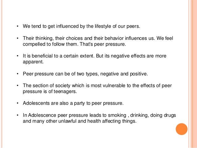 Positive Traits Of My Peer Group  • Adopting Good Habits  • Exposure to the World  • Giving Up Bad Habits  • Helping each ...