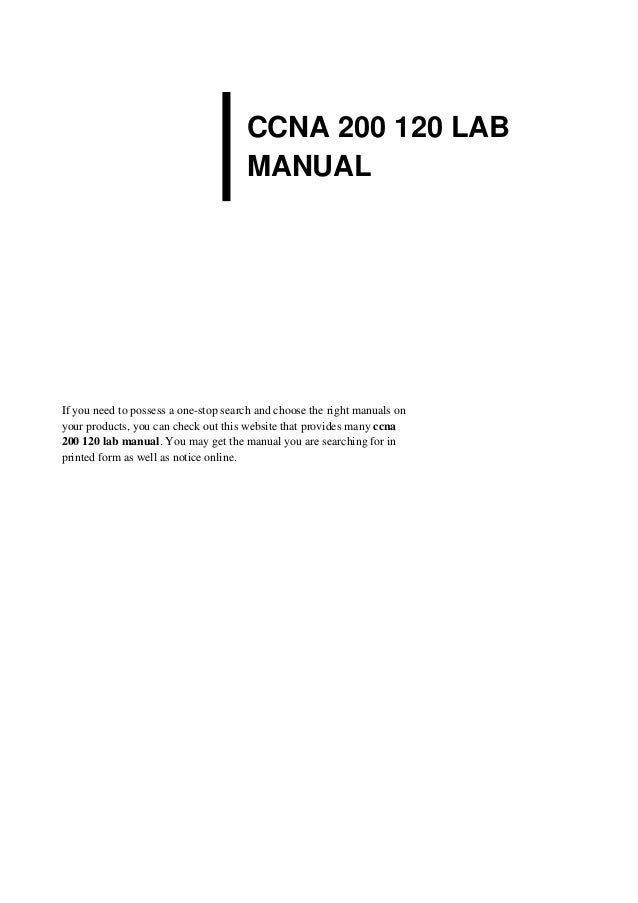 Ccna 4 Lab manual answers