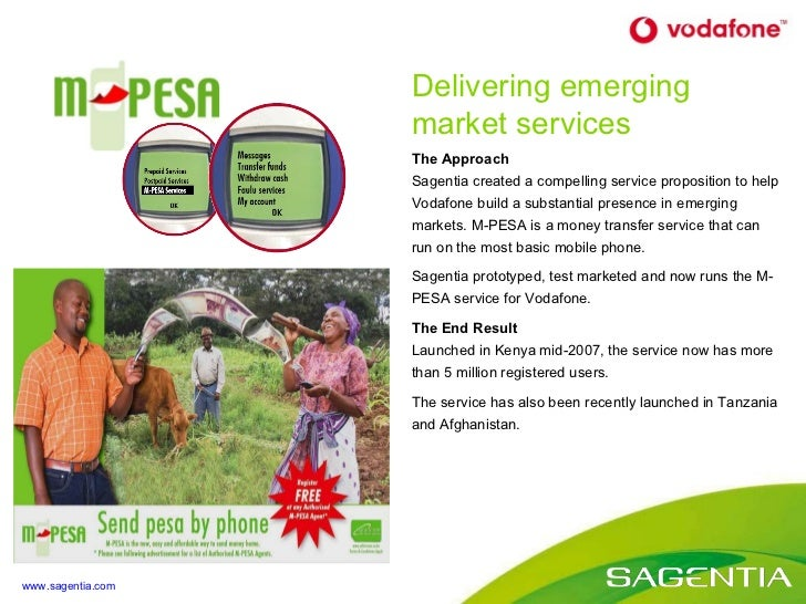 The Approach Sagentia created a compelling service proposition to help  Vodafone build a substantial presence in emerging ...