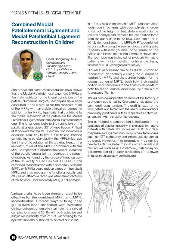 Medial Patellofemoral Ligament Reconstruction In Children