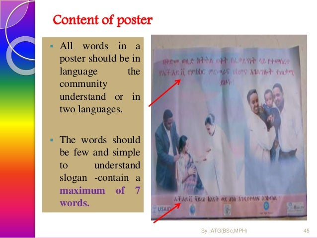content …  The symbols/ picture used should be understood irrespective of educational status. 46 Asendabo HC By :ATG(BSc,...