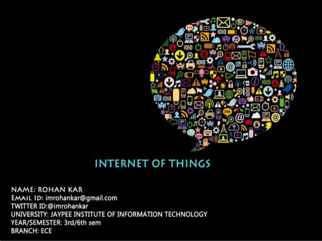 What is IoT The IoT is a computational concept that brings a future where physical objects will be connected to the intern...