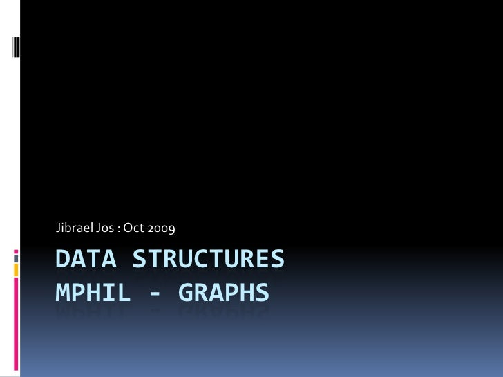 Data Structures, Graphs