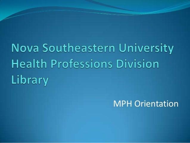 MPH Orientation