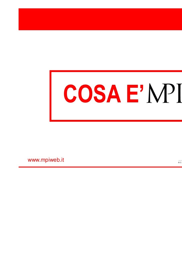 COSA E'www.mpiweb.it