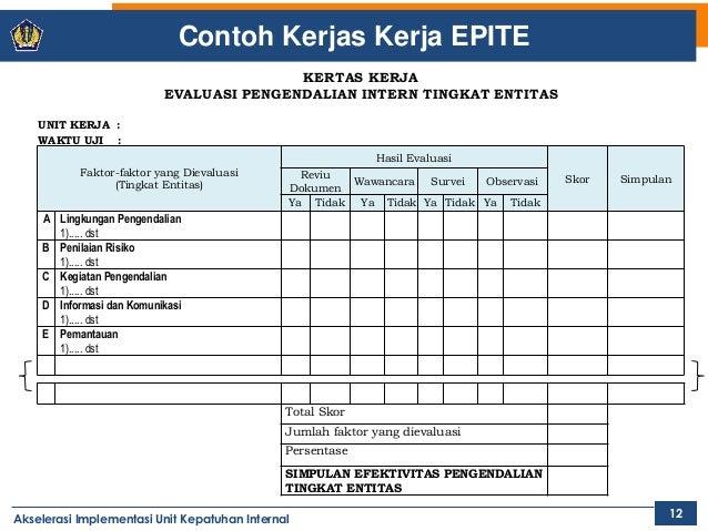 Mpim 6 Evaluasi Pengendalian Intern Tingkat Entitas Epite