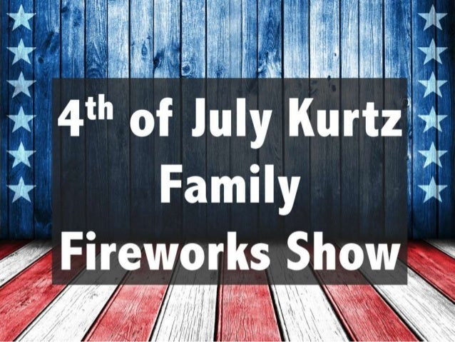 4th of July Kurtz Family Fireworks Show 8:30 PM on July 4th at Kurtz Farms in Cheshire, CT.