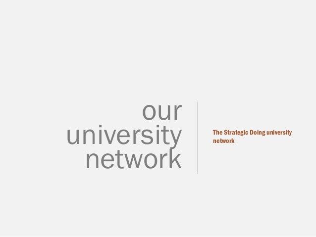 The Strategic Doing university network  our university network