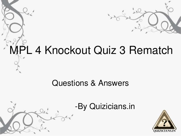 Mpl 4 knockout 3 rematch
