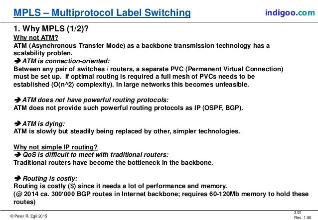 MPLS: Multiprotocol Label Switching