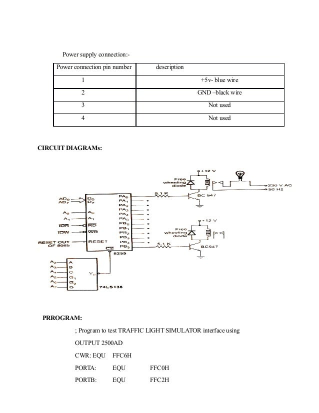 mp mc programs 27 power supply connection