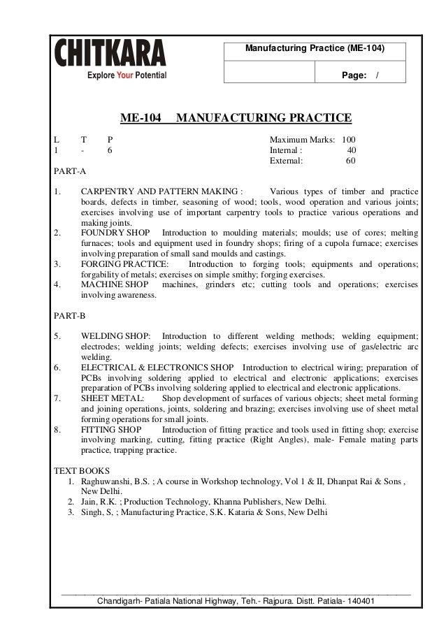 manufacturing practice lab manual b tech mechanical engineering rh slideshare net Modern Engineering Lab mechanical engineering lab manuals pdf