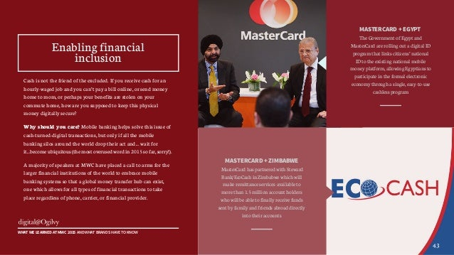MASTERCARD + EGYPT The Government of Egypt and MasterCard are rolling out a digital ID program that links citizens' nation...