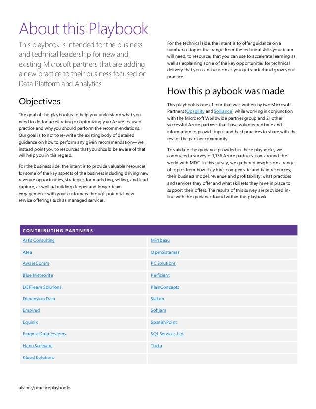 Data Platform & Analytics OpenSistemas MSFT Playbook Slide 2