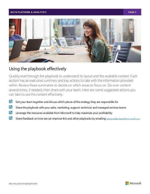 Data Platform & Analytics OpenSistemas MSFT Playbook Slide 3