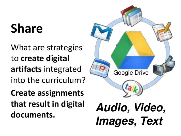 Share What are strategies to create digital artifacts integrated into the curriculum? Create assignments that result in di...