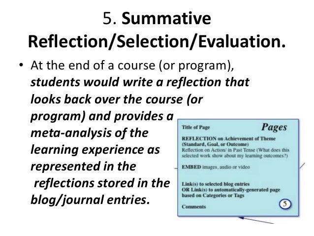 6. Presentation/Publishing • The portfolio developer decides what parts of the portfolio are to be made public. – Student:...