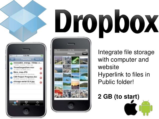 Online Storage Apps (must be able to provide hyperlink to artefacts) SugarSync Box.net – 10 GB Google Drive – 15 GB Dropbo...