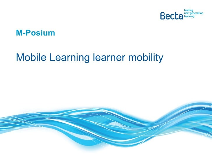 M-Posium Mobile Learning learner mobility