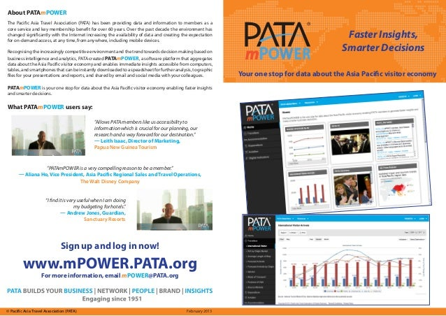 Faster Insights,Smarter DecisionsYour one stop for data about the Asia Pacific visitor economyAbout PATAmPOWERWhat PATAmPO...