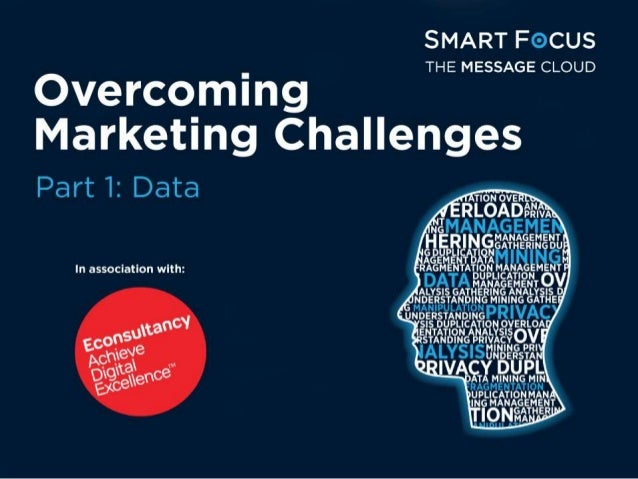 SMART FOCUS    m i n g THE MESSAGE CLOUD  Marketing Challenges     Part 1: Data  In association with: