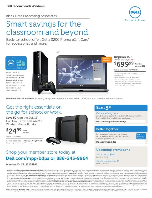 Save big on Inspiron, Alienware, and more with the latest Dell coupon codes, Dell coupons, and private offers. Select a Dell coupon and start saving now!