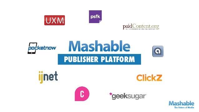PUBLISHER PLATFORM                     The Future of Media