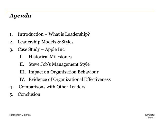 Leadership Style and Organisational Effectiveness Slide 2