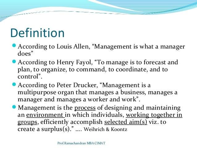 louis allen management theory