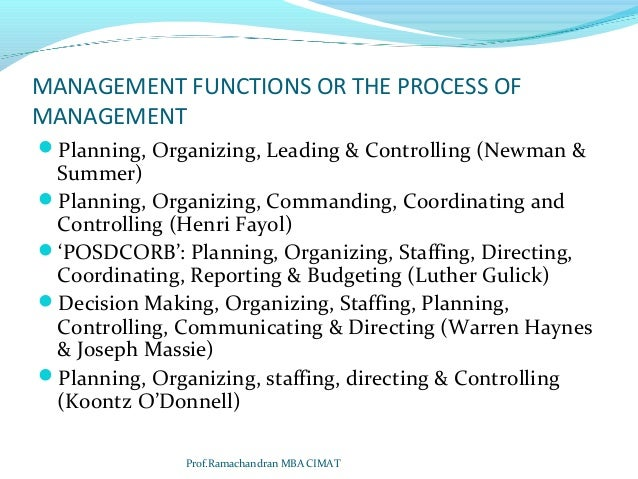 Classical Theories of Hierarchical Management