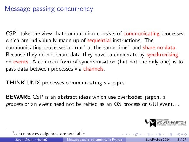 Message-passing concurrency in Python