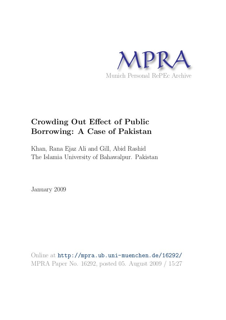 MP A                                 R                           Munich Personal RePEc ArchiveCrowding Out Effect of Public...