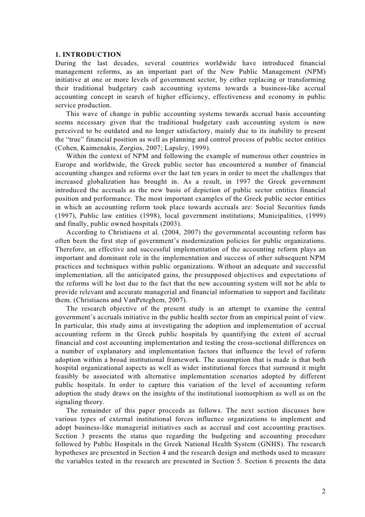 essay on institutionalization It also heightened recognition that institutionalization is a political process, and the success of the process and the form it takes depends on the relative power of the actors who strive to steer it, as dimaggio argued in 1988.