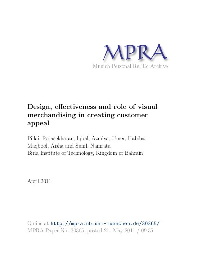 MP A                                 R                           Munich Personal RePEc ArchiveDesign, effectiveness and rol...