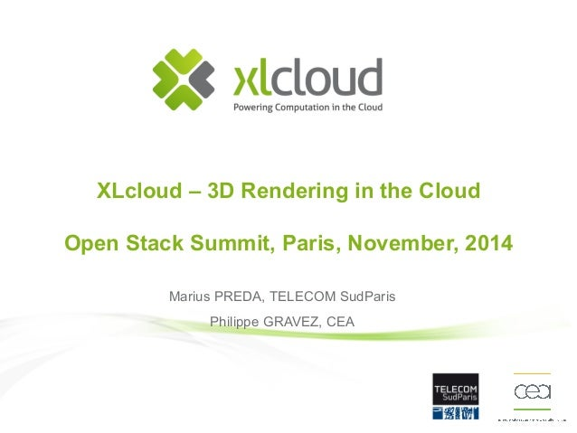 OW2con'14 - XLcloud, a demonstation of 3D remote rendering in the cloud