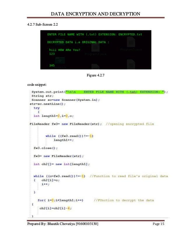 File Encryption And Decryption