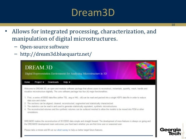 Dream3D and its Extension to Abaqus Input Files