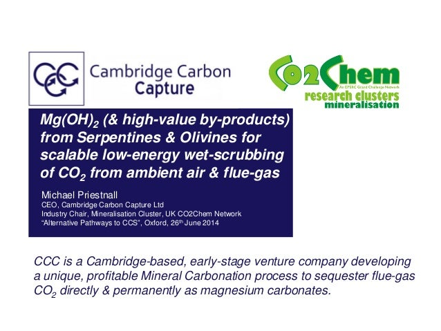 Mg(OH)2 (& high-value by-products) from Serpentines & Olivines for scalable low-energy wet-scrubbing of CO2 from ambient a...