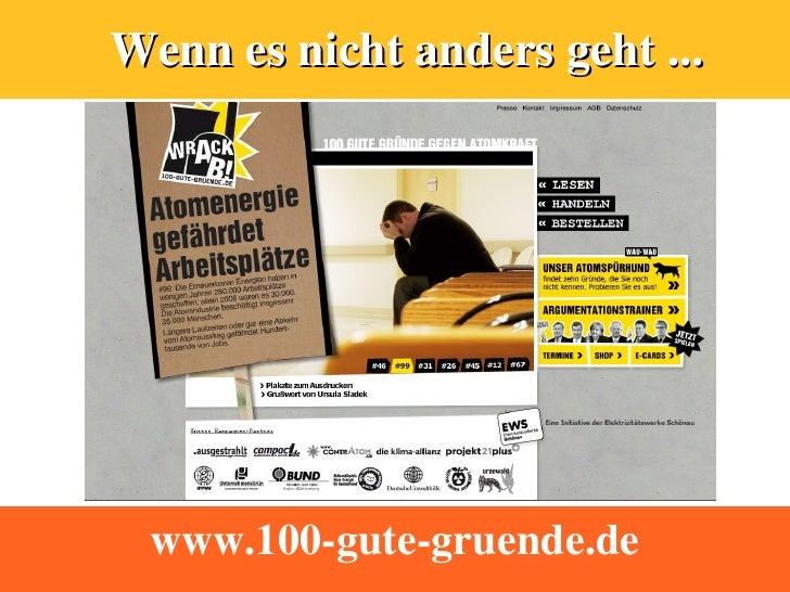 Wenn es nicht anders geht ...      www.100-gute-gruende.de