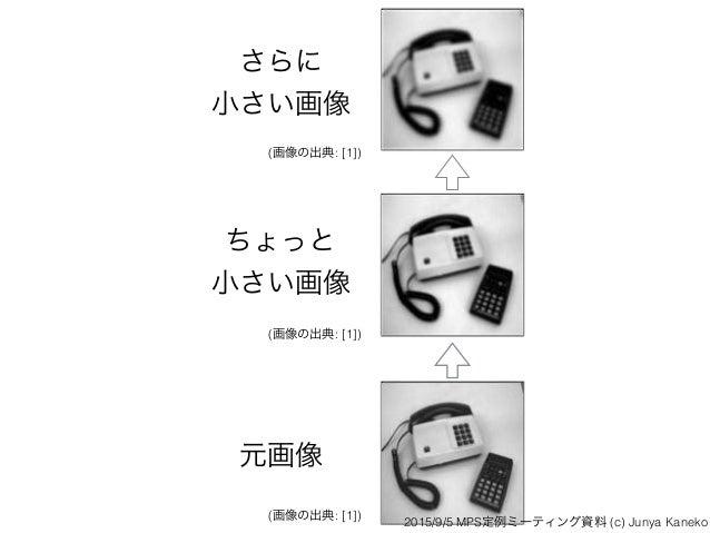 元画像 ちょっと 小さい画像 さらに 小さい画像 (画像の出典: [1]) (画像の出典: [1]) (画像の出典: [1]) 2015/9/5 MPS定例ミーティング資料 (c) Junya Kaneko