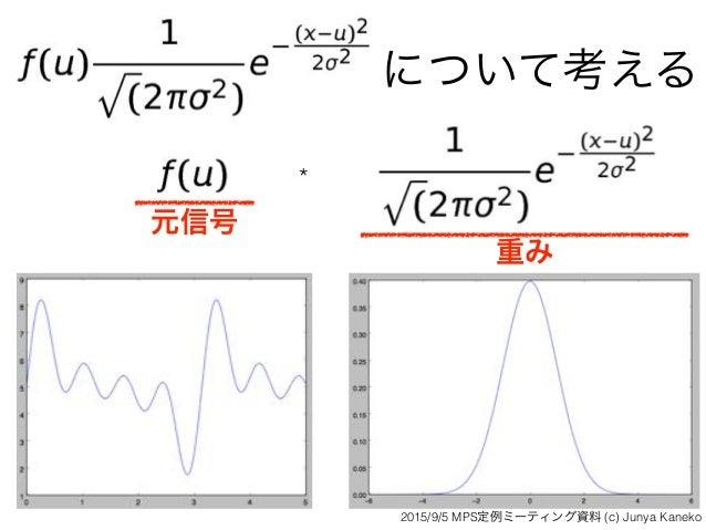 について考える * 元信号 重み 2015/9/5 MPS定例ミーティング資料 (c) Junya Kaneko