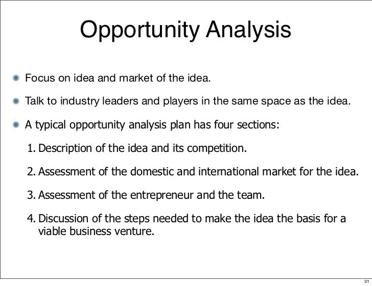 Business Plan Section 5: Market Analysis
