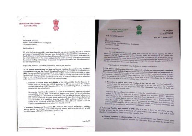 50 MPs demand JNU VC's resignation over misgovernance